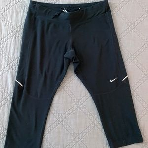 Nike Running Capris Black Reflective Medium